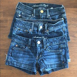 3 pair bundle AE shorts size 00